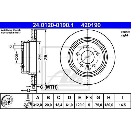 Disque de frein frein Nouveau UAT 24.0120-0190.1