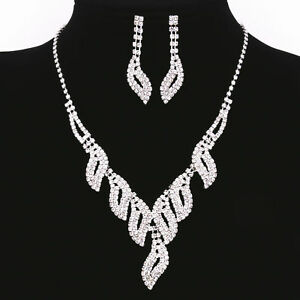 Image Is Loading Fashion Women Lady Crystal Rhinestone Diamond Necklace Pendant