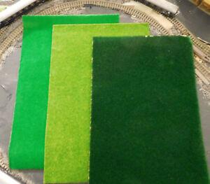 3-Grasmatten-pelouse-de-Coffre-20-X-30-cm-Vert-fonce-vert-moyen-herbstgrun