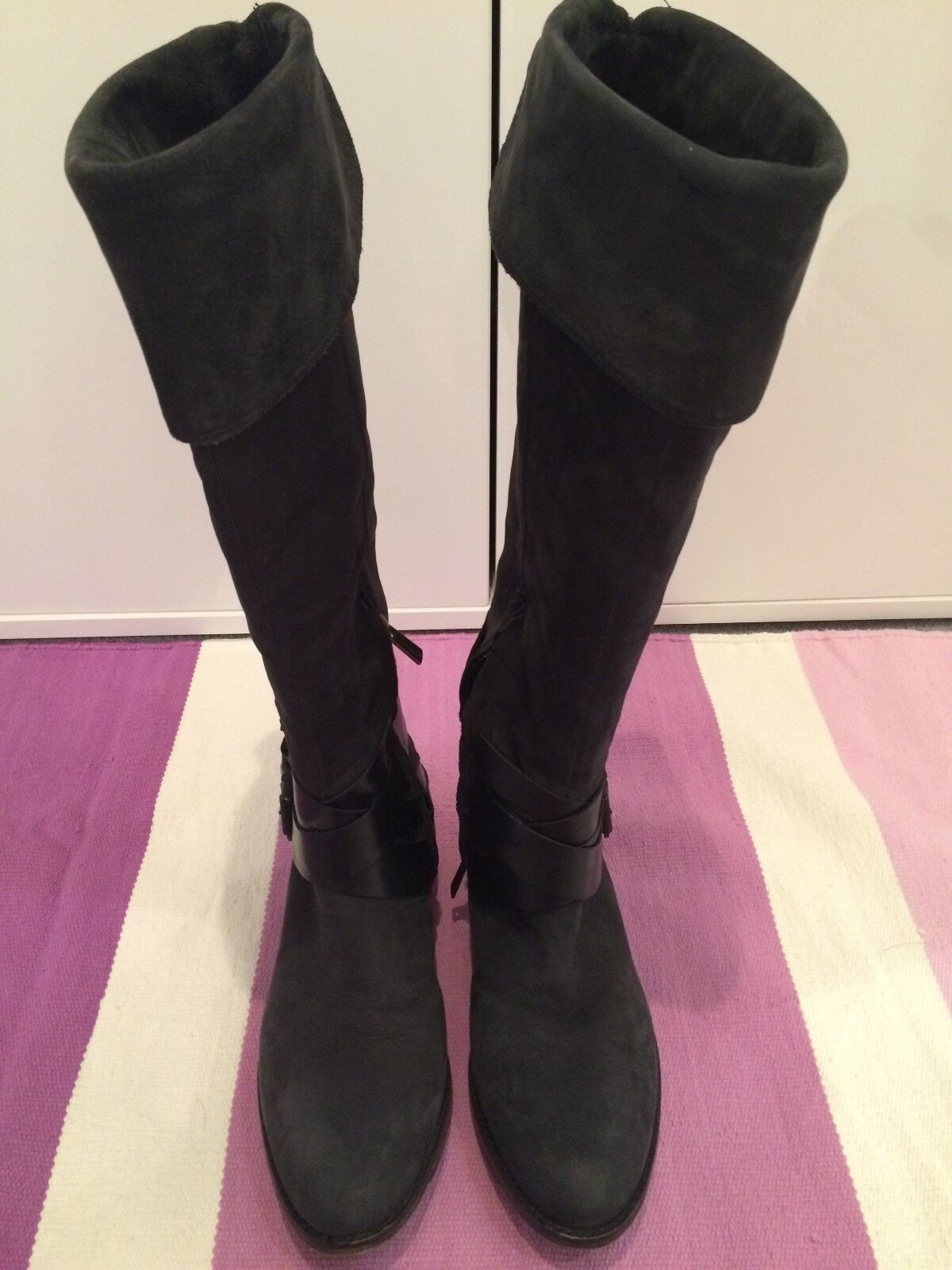 Sam Edelman dark grey suede knee high boot women (EUR38.5)