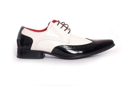 retrò da e pz2 Scarpe bianco nero in vintage classiche uomo per uomo ufficio da rpq8UdXq