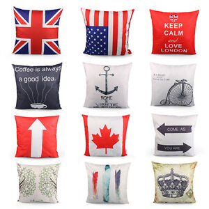 New-Solid-flag-Cushion-Cover-Home-Decor-Bed-Sofa-Throw-Pillow-Case-42x42Cm