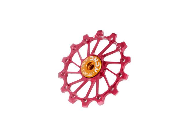 MTB Road Bike Rear Derailleur Jockey Wheel Pulley 10T Red
