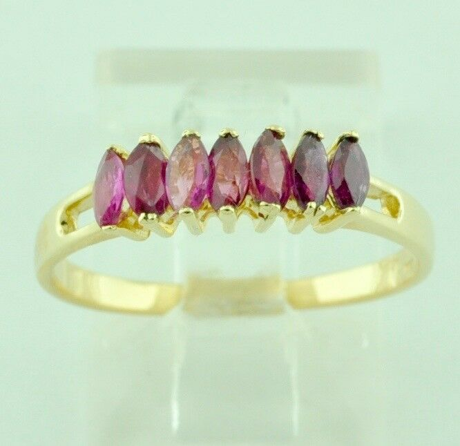 576b4fac86e54 Marquise Natural Ladies gold Yellow 14k ct 0.35 Ruby Solid ...
