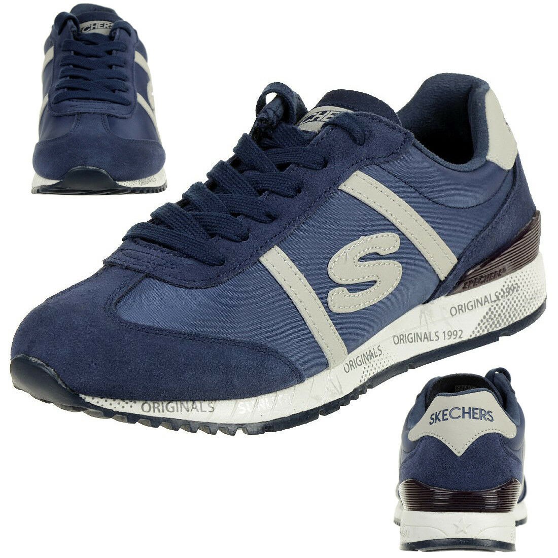 Skechers Originals 1992 SUNLITE reminise baskets Femmes Bleu 911 NVY