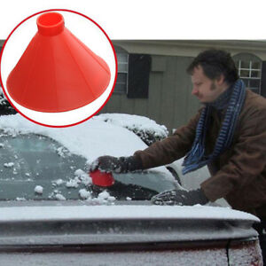 1x-Car-Auto-Windshield-Ice-Scraper-Cone-Shaped-Car-Window-Ice-Snow-Cleaner-Tool