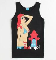 Enjoi Skateboarding Wet Hot Girl Mens Black Tank Top