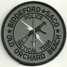 SWAT  MAINE  OLD ORCHARD BEACH  TACTICAL TEAM Police Patch SEK Polizei Abzeichen