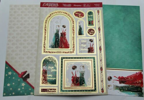 From 99p Hunkydory Full Card Kit CHRISTMAS Foiled Card Toppers P/&P Offer