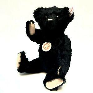 Teddy-bear-Steiff-CLASSIC-1910-mohair-black-limited-edition-1268-1910-NIB-RARE