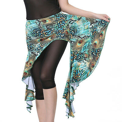 New Belly Dance Costume Peacock Hip Scarf wrap Skirt Belt 6 colours