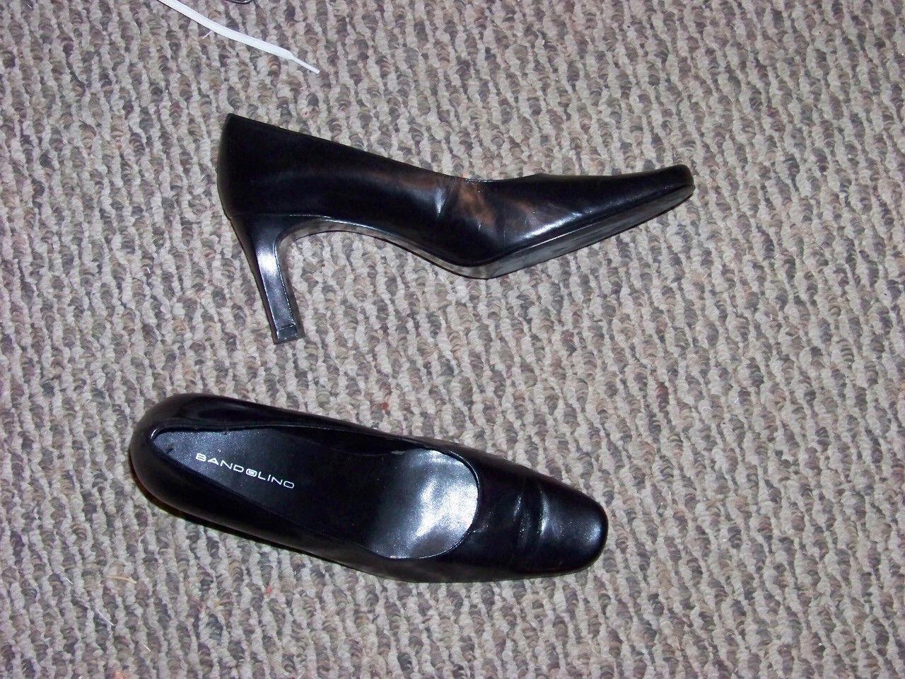 womens bandolino heels dave basic black leather heels bandolino shoes size 10 01e869
