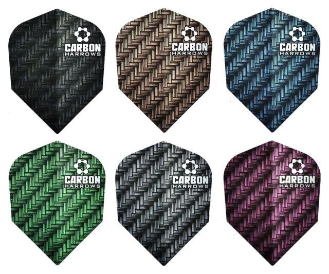 6 sets 6 PACK OF HARROWS CARBON /& ATOMIC Dart Flights