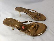Splash Fashion Footwear Bronze Stylish Stiletto Heel Thong Sandals Size 6.5 US