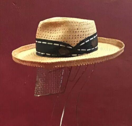 Vintage Straw Hat Matsuda  Summer Beach Wear Fedor