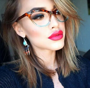 9830f173ffa1 60s Vintage PinUp MIRA Cat Eye Gradient OMBRE Demi Clear Lens ...