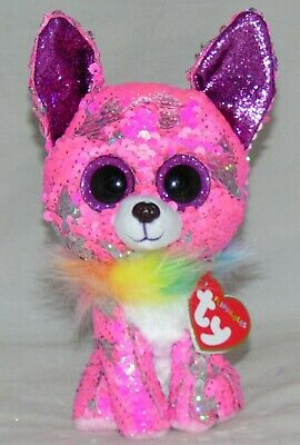 """TY Flippables Sequin 9/"""" Medium CHARMED 2020 Valentine/'s Day Chihuahua Plush MWMT"""