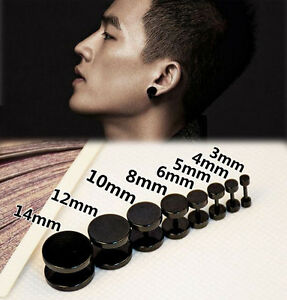 Image Is Loading Cool Men Boy Charm Surgical Steel Fake Plug