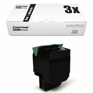 3x Eco Cartridge Black for Lexmark C-544-N X-548-DE X-546-DTN C-544-DN C-544-DTN