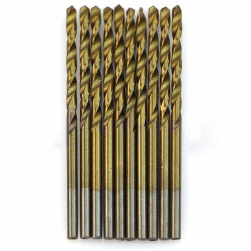 50 Stuck 1mm-3mm Schnellarbeitsstahl Titan Beschichtetes Werkzeug Bohrer Set