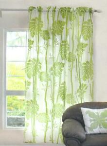 Image Is Loading Hawaiian Tropical 1 Sheer Panel Window Treatment Curtain