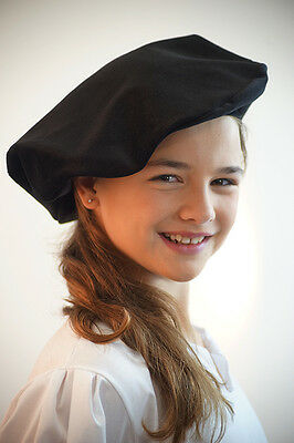 Victorian-Edwardian-Baron-Panto TUDOR STYLE MUFFIN HAT 3 Colours To Choose From
