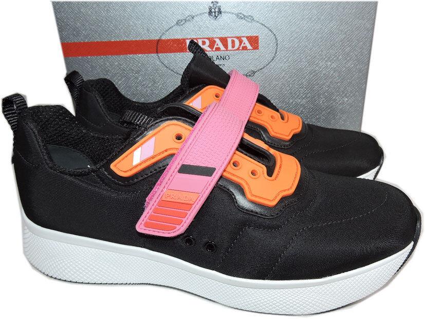 Prada Linea Rossa Runner Pink 38.5 STRAP Navy blau Sneakers 38.5 Pink schuhes 3365f0
