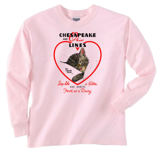 Chessie Hearts and Flowers Authentic Railroad Sweatshirt 18