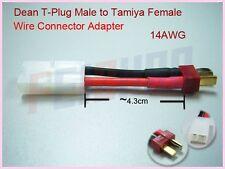 T-Stecker an Tamiya Weiblich 14AWG Batterie Konvertieren Wire Adapter F01890