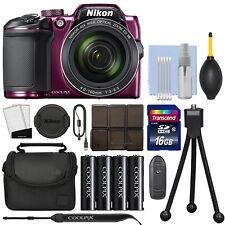 Nikon Coolpix B500 16MP Digital Camera 40x Optical Zoom Purple Full-HD+ 16GB Kit