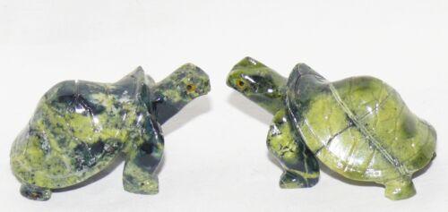 grün Serpentin Steintier Schildkröte 6 cm Indianer Tier Turtle Clan Geschenk