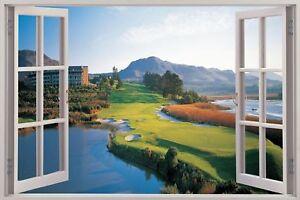 Huge-3D-Window-view-Golf-Fairway-Wall-Sticker-Mural-Film-Art-Decal-276