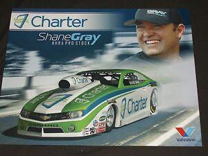 2014 Shane Gray Charter Chevy Camaro Pro Stock Nhra Postcard Ebay