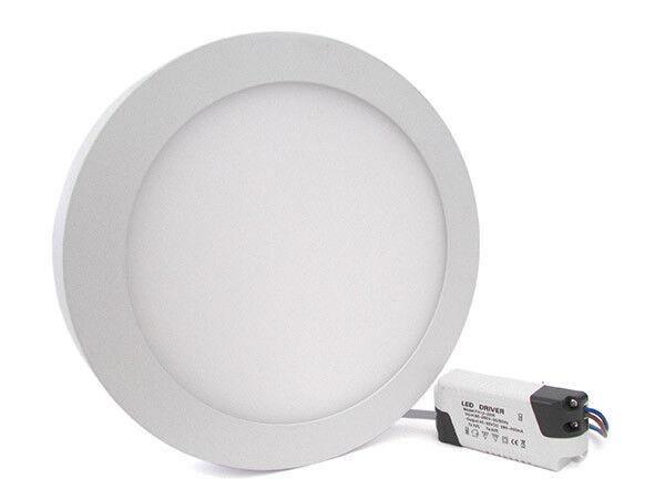 Plafoniera Faretto Led Da Soffitto Muro Parete Rotonda 24W Bianco Caldo Diametro