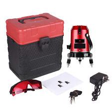 5 Line Laser Rojo Auto Self Leveling Gradiente Giratorio láser Nivel Meter Tool