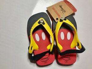 2df3d2f5b5fe Havaianas Baby Toddler Boys  girls Brazil Logo Flip Flops Size 5 6 ...