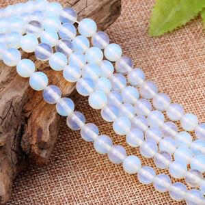 DIY-Bracelets-Bead-White-Opal-Gemstone-Round-Spacer-Loose-Beads-6mm-8mm-10mm