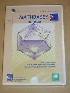 CD-ROM-PC-MATHBASES-COLLEGE-2000-EXERCICES-RARE-NEUF-SOUS-CELLO