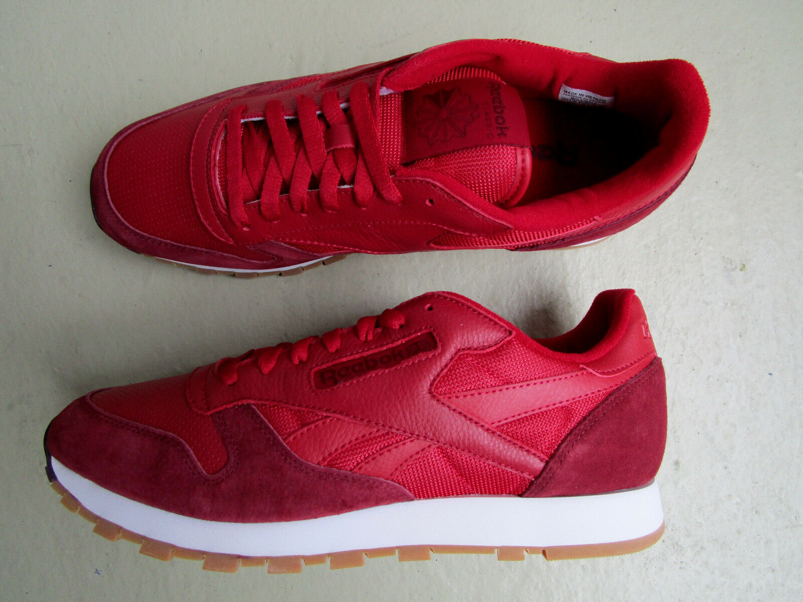 Kendrick Lamar X Reebok Classic Leather 45 Perfect Split Flash Red/Merlot White