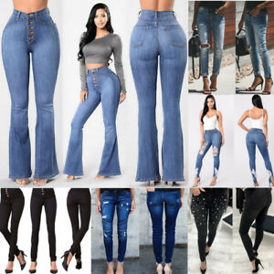 Women-Pencil-Skinny-Slim-Jeans-Pants-High-Waist-Stretch-Casual-Trousers-Leggings