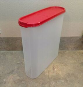 New-TUPPERWARE-Modular-Mates-Super-Oval-5-RED-POUR-ALL-SEAL-20-3-CupFREE-US-SHIP