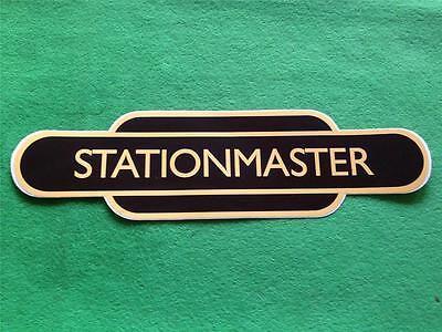 RAILWAY / TRAIN TOTEM STATION SIGN - STATIONMASTER