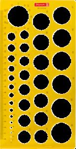 BRUNNEN Kreisschablone Lochschablone Zeichenschablone 37 Kreise 1-37mm