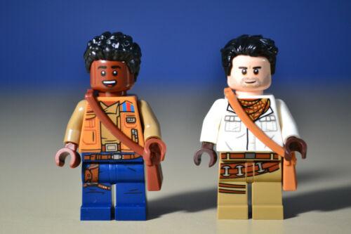 Lego Star Wars Finn /& Poe Demoran Minifigures 75257 75249