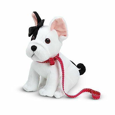 "NEW American Girl GRACE Doll French Bulldog /""BonBon/"" Collar Leash /& Hairbow"