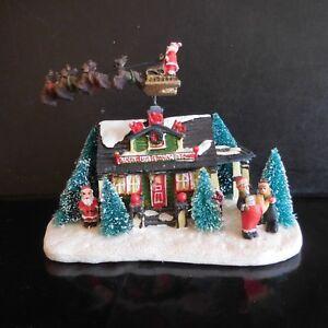Détails sur Maison Père Noël électrique fait main vintage art déco design  XXe France N3492