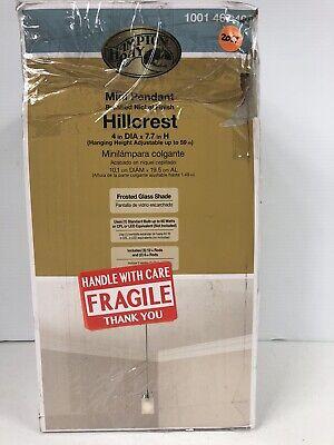 Hampton Bay Hillcrest 1-Light Brushed Nickel Mini Pendant 1001467498