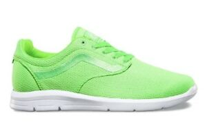 c5a239078d VANS Mens 6.5 Womens 8 ISO 1.5 Mesh Green Gecko Running Athletic ...