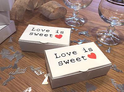 """l' Amore è Dolce Scatole Torta"", Per Matrimoni & Occasioni Speciali 100x60x30mm Freepost-0x30mm Freepost"" Data-mtsrclang=""it-it"" Href=""#"" Onclick=""return False;""> Novel (In) Design;"