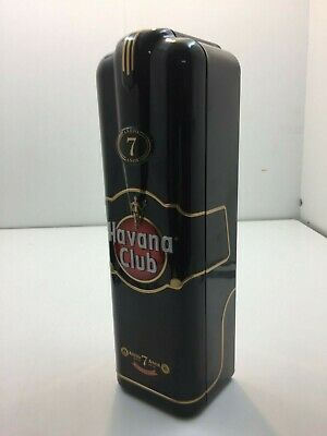 Havana Club 7 Year Old Advertising Black Tin Box